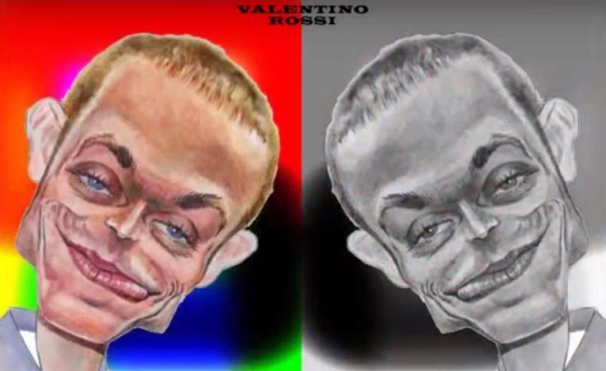 Colección de caricaturas de Valentino Rossi