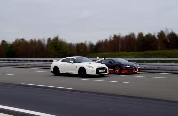 Nissan GT-R contra Bugatti Veyron: ¡el no va a más!