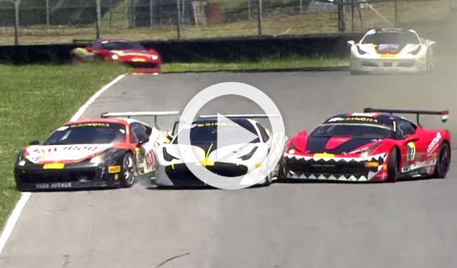 ¿Una carrera de la Ferrari Challenge o de coches de choque?