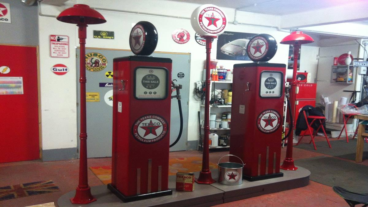 Surtidores de gasolina clásicos y otras restauraciones