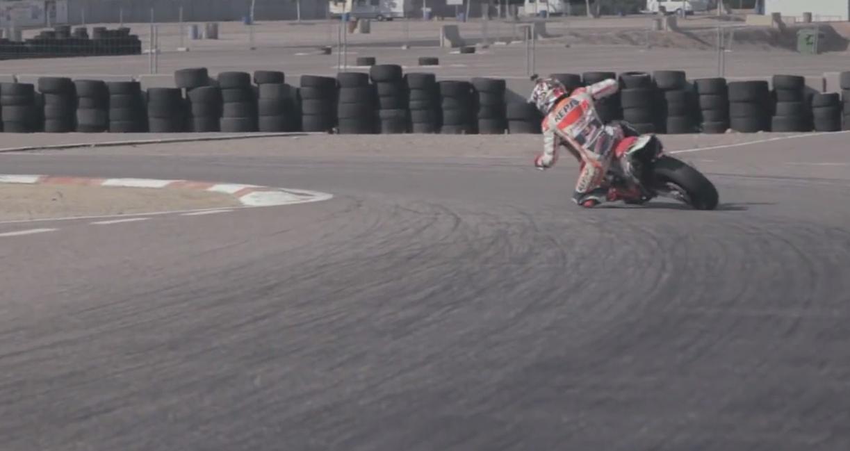 Video: Marc Márquez entrenando con una Supermotard