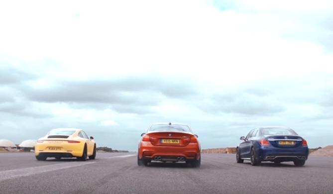 Drag Race de 'Launch Control': M4, C63 AMG y 911, vs. Polo