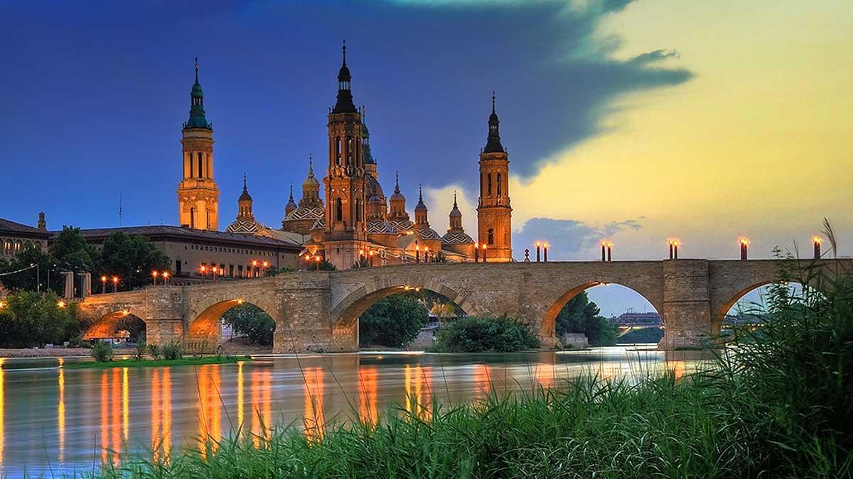 Atardecer en Zaragoza