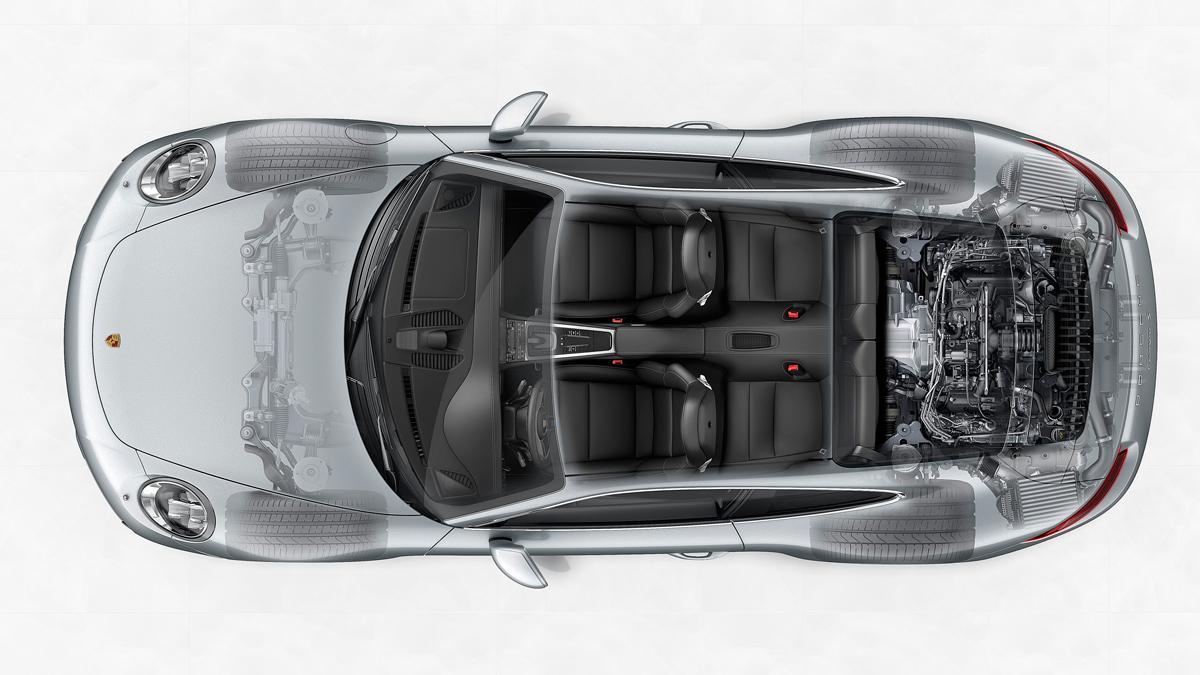 tecnología porsche 911 carrera 2016
