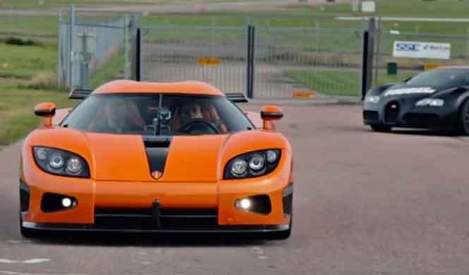 Koenigsegg vs Bugatti: la 'drag race' requetedefinitiva