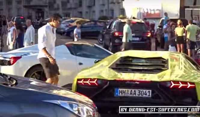 El macarrismo de un Ferrari contra un Lamborghini