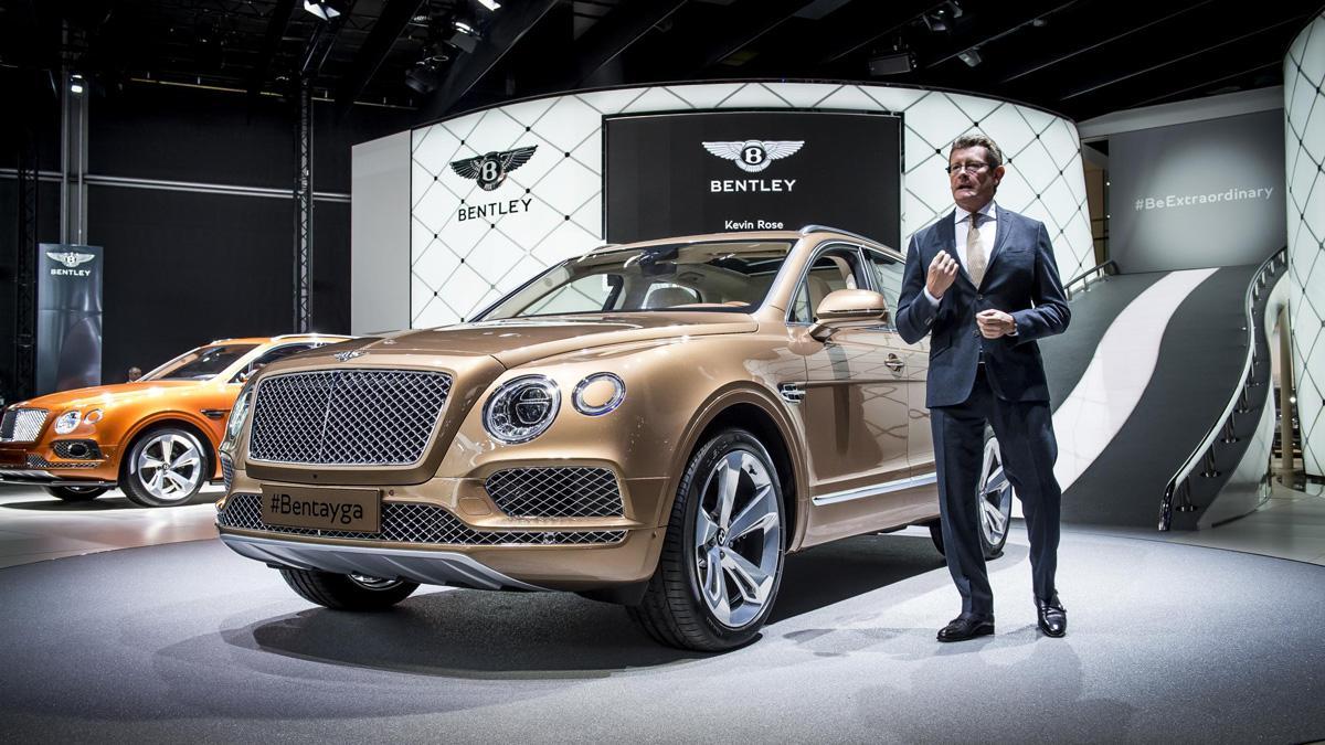 Salón de Frankfurt 2015 caros Bentley Bentayga