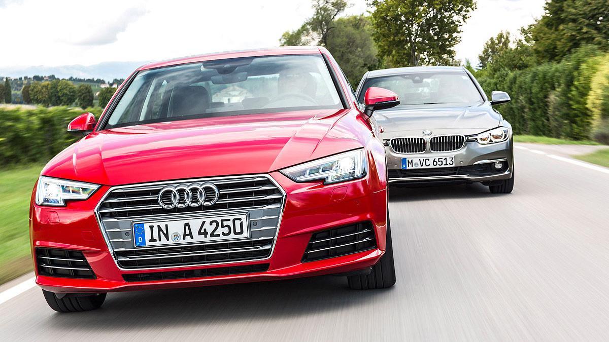 Primer cara a cara: nuevo Audi A4 vs nuevo BMW Serie3