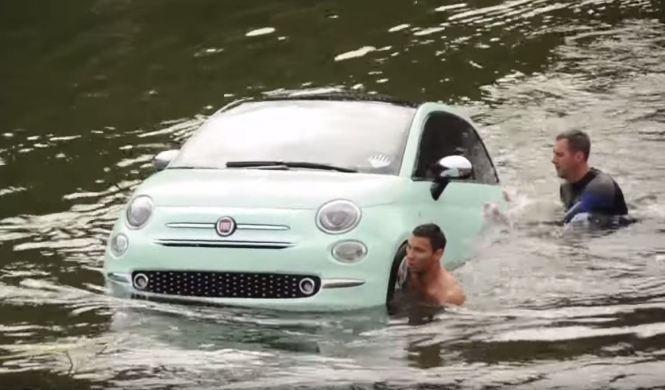 Se hunde una versión acuática del Fiat 500 2016