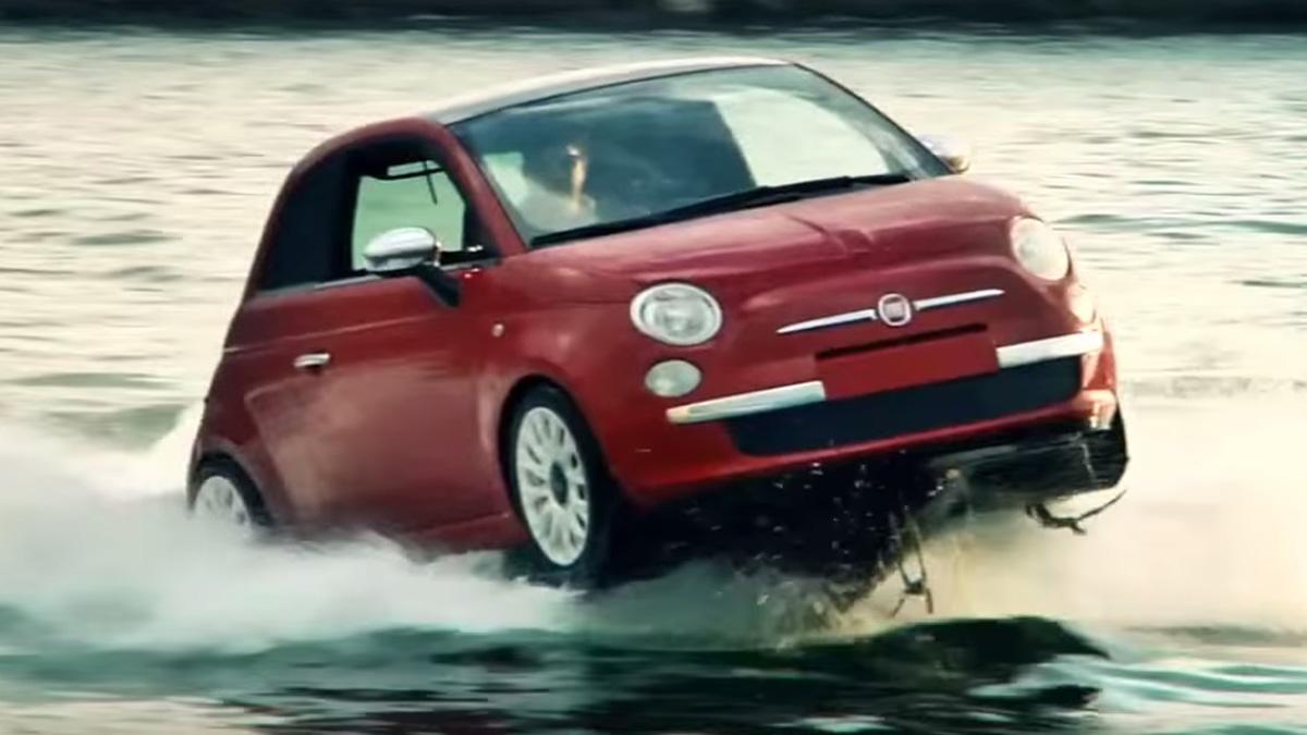 presentación Fiat 500 acuático