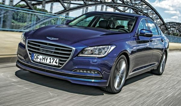 Cazado el 'facelift' del Hyundai Genesis