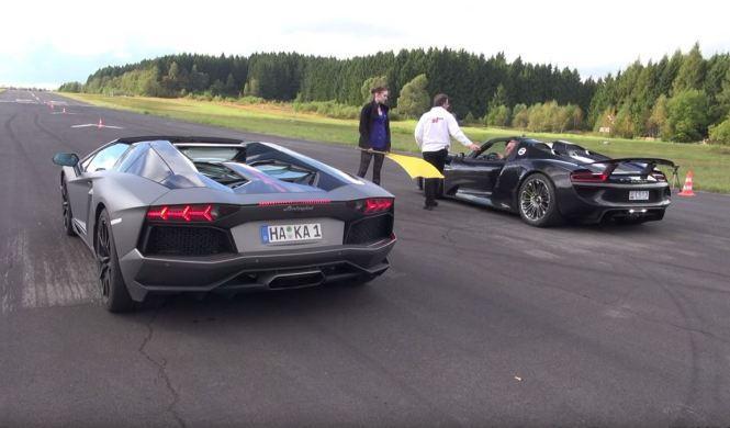 Lamborghini Aventador Pirelli Edition vs Porsche 918 Spyder