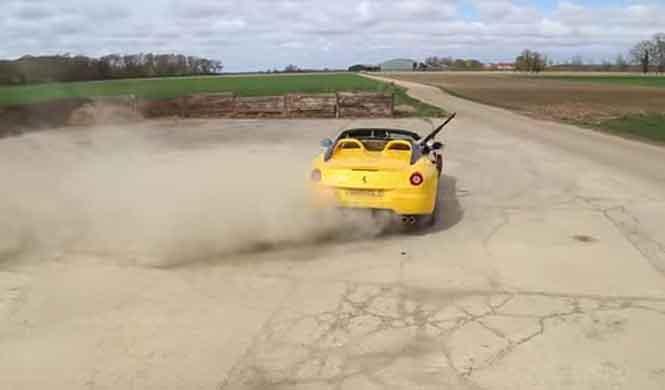 Vídeo: lo que nunca has visto hacer con un Ferrari