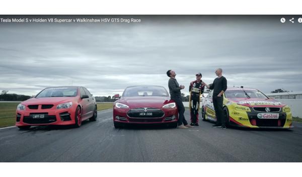Drag Race: el Tesla Model S lo da todo y...