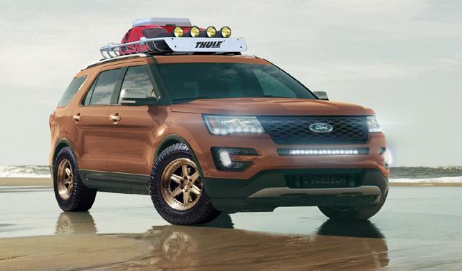 Ford nos adelanta los cuatro Explorer que llevará al SEMA