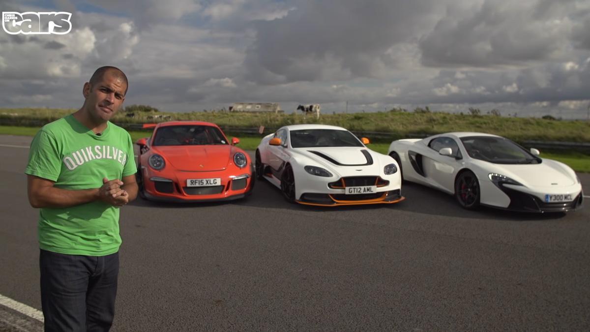 Tres bestias para Chris Harris: GT3 RS, Vantage GT12 y 650S