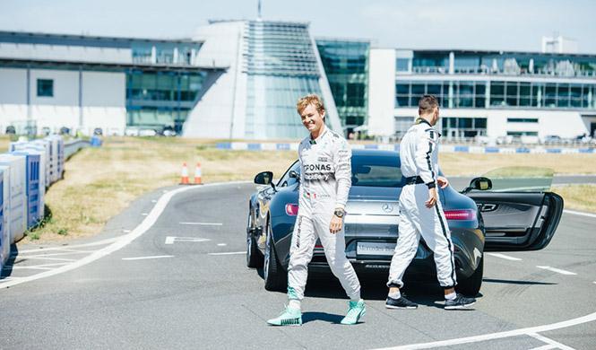 Nico Rosberg, Martin Kaymer Mercedes-AMG GT S