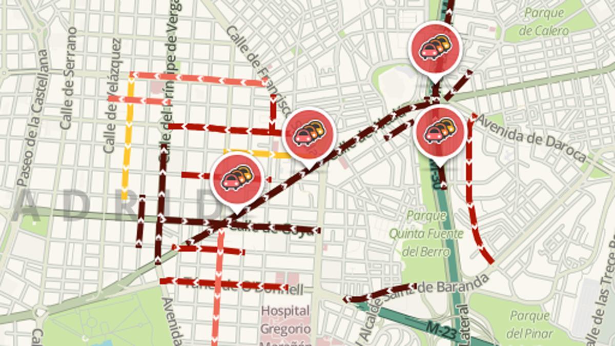 dos horas de retraso que hay en la Calle Alcalá el día 19