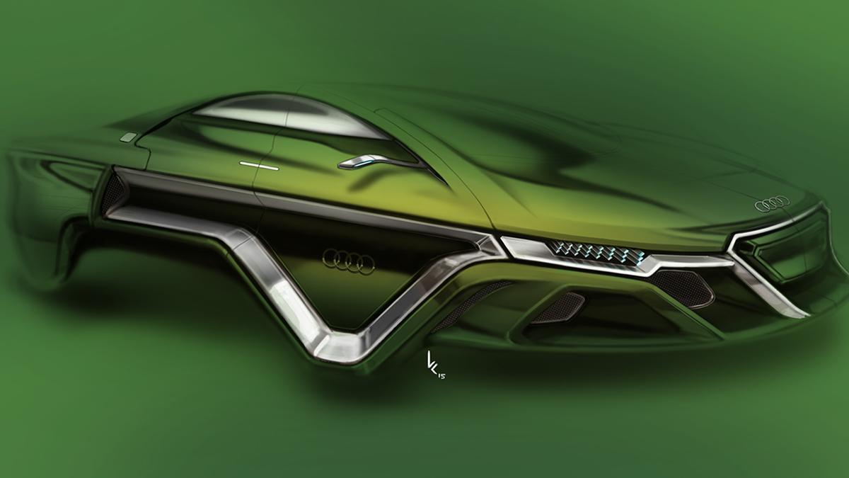 Audi  verde.