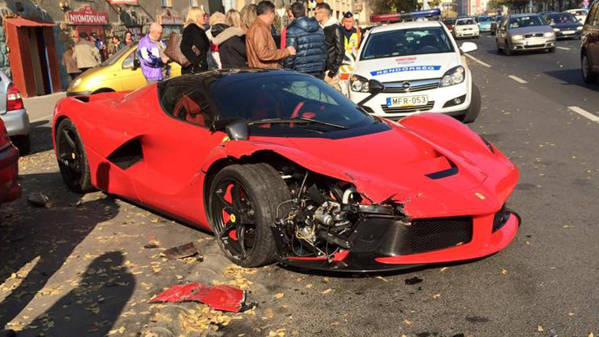 Accidente de un Ferrari LaFerrari en Budapest