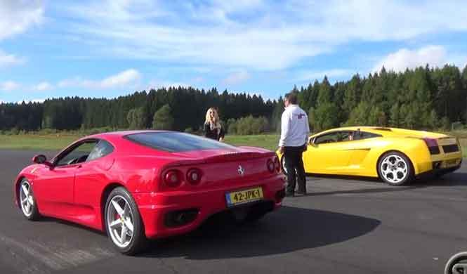 'Drag race': 360 Modena vs Gallardo