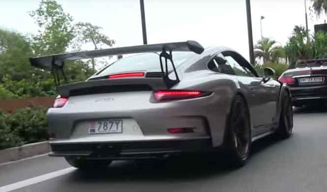 Vídeo: un Porsche 911 GT3 RS 2016 plateado, en Mónaco