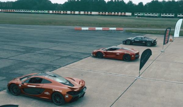 McLaren, Ferrari y Porsche, carrera... ¡a 300 km/h!