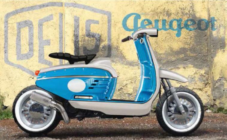 "Peugeot ""Le Derny"" Concept: scooter retro personalizable"