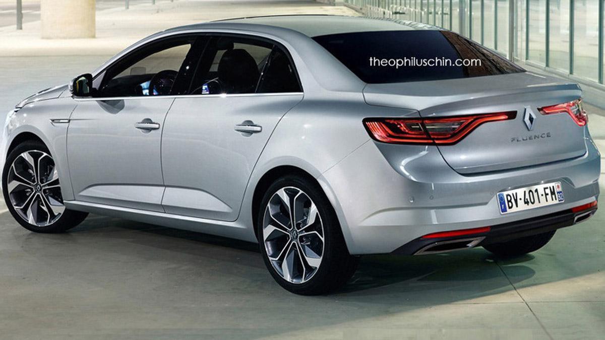 Renault Fluence render trasera
