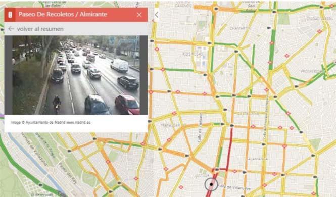 Los mapas de Bing muestran imágenes en directo del tráfico