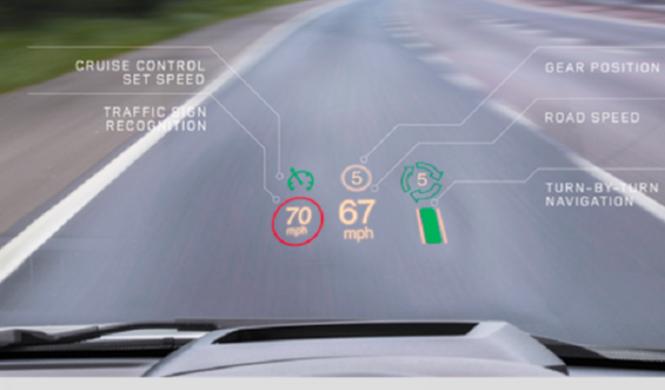 Jaguar Land Rover equipa sus vehículos con una pantalla HUD