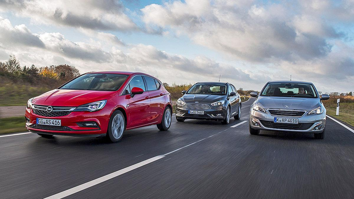 Comparativa 3 cilindros: Opel Astra/Ford Focus/Peugeot 308