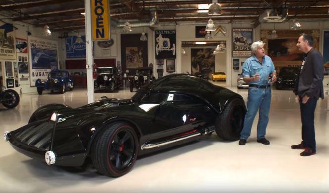 Jay Leno se pone a los mandos del coche de Darth Vader