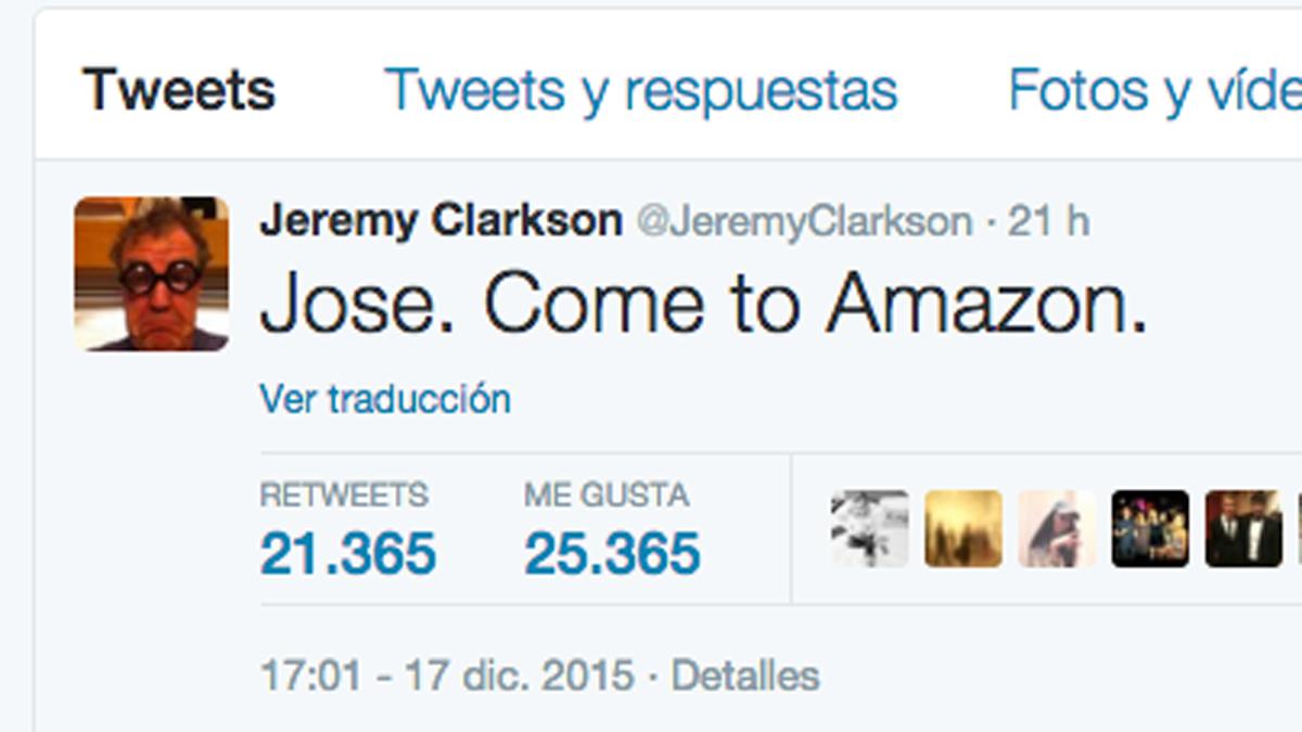 Jeremy Clarkson reta a Mourinho tras su destitución