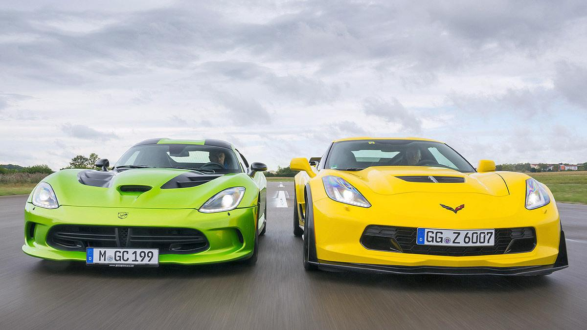 Duelo radical: Dodge SRT Viper vs Chevrolet Corvette Z06