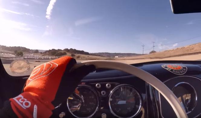 A bordo de 20 Porsche de carreras en Laguna Seca
