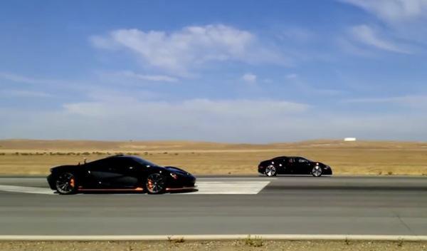 Drag Race: Bugatti Veyron contra McLaren P1