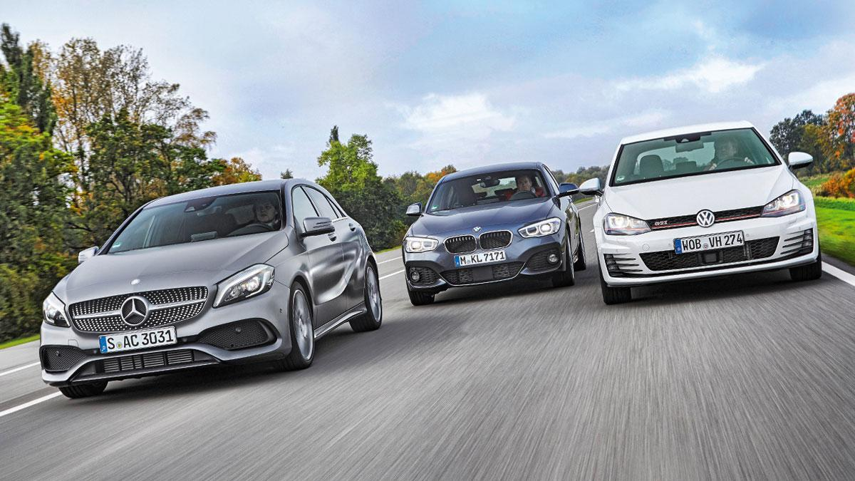 Comparativa: VW golf GTI/ BMW 125i/Mercedes Clase A