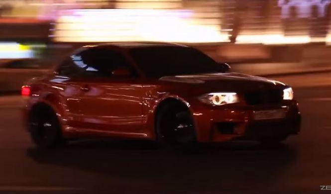 Drifting clandestino del BMW 1M Coupé en Rusia