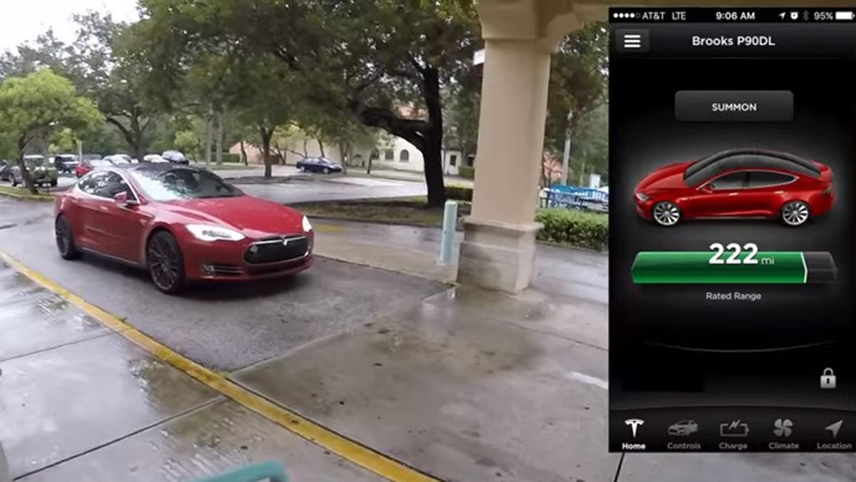 conductor indica tesla aparcar app