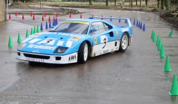 ¿Quieres ver un Ferrari F40 GT haciendo trompos?