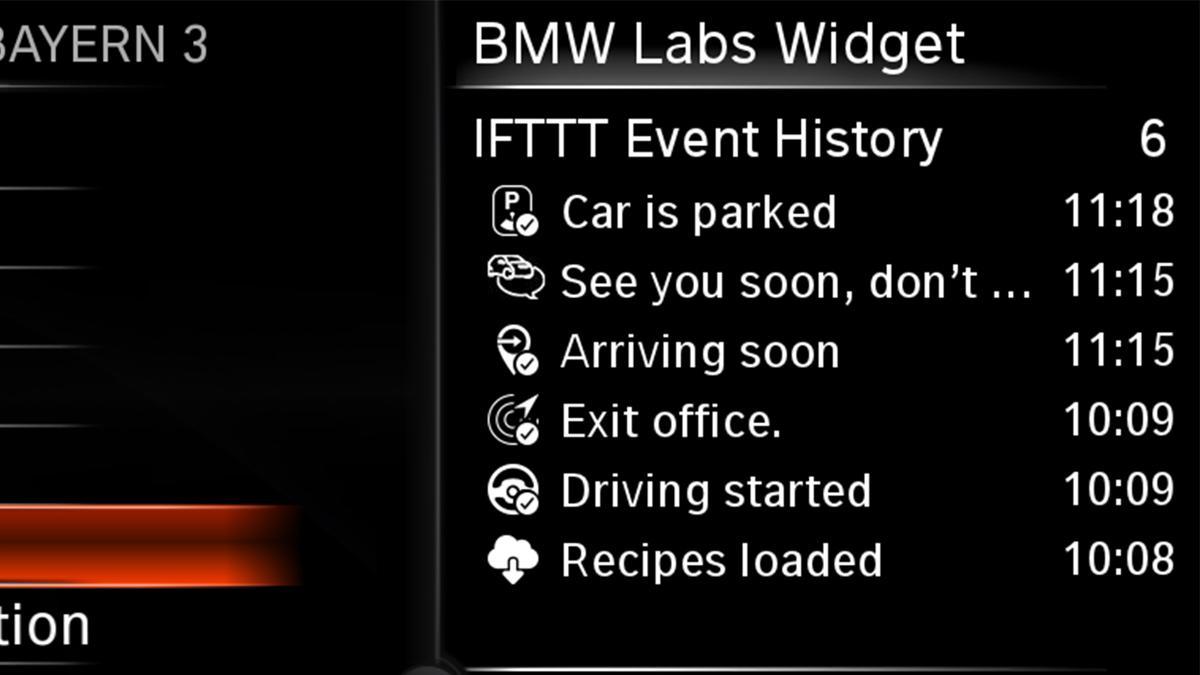 widget sistema bmw connecteddrive