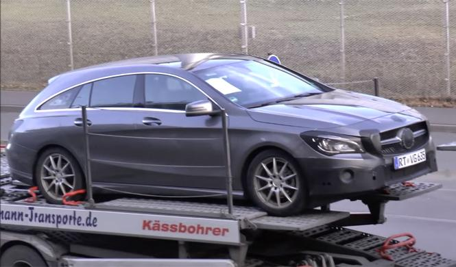 Mercedes CLA Shooting Brake 2016, ¡cazado en vídeo!