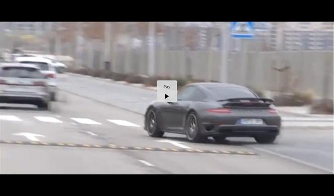 La brusca maniobra de Cristiano en su Porsche en Valdebebas