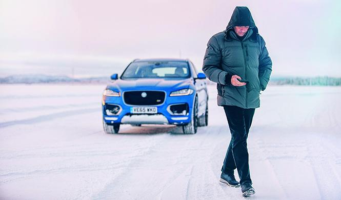 Mourinho Jaguar F-Pace hielo