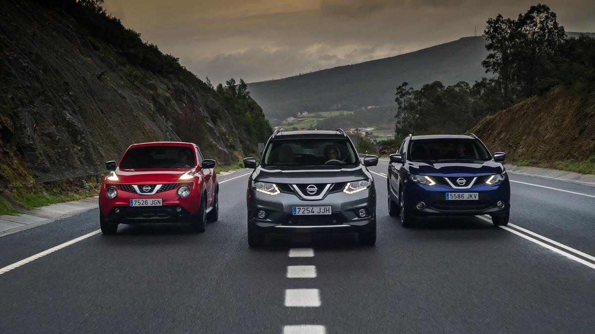 Nissan Juke, X-Trail, Qashqai dinámica