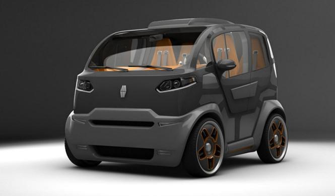 Espejo Provocador el coche inteligente ciudades del futuro