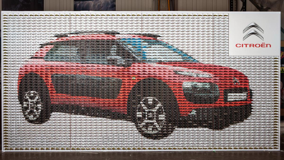 mosaico coches juguete citroën