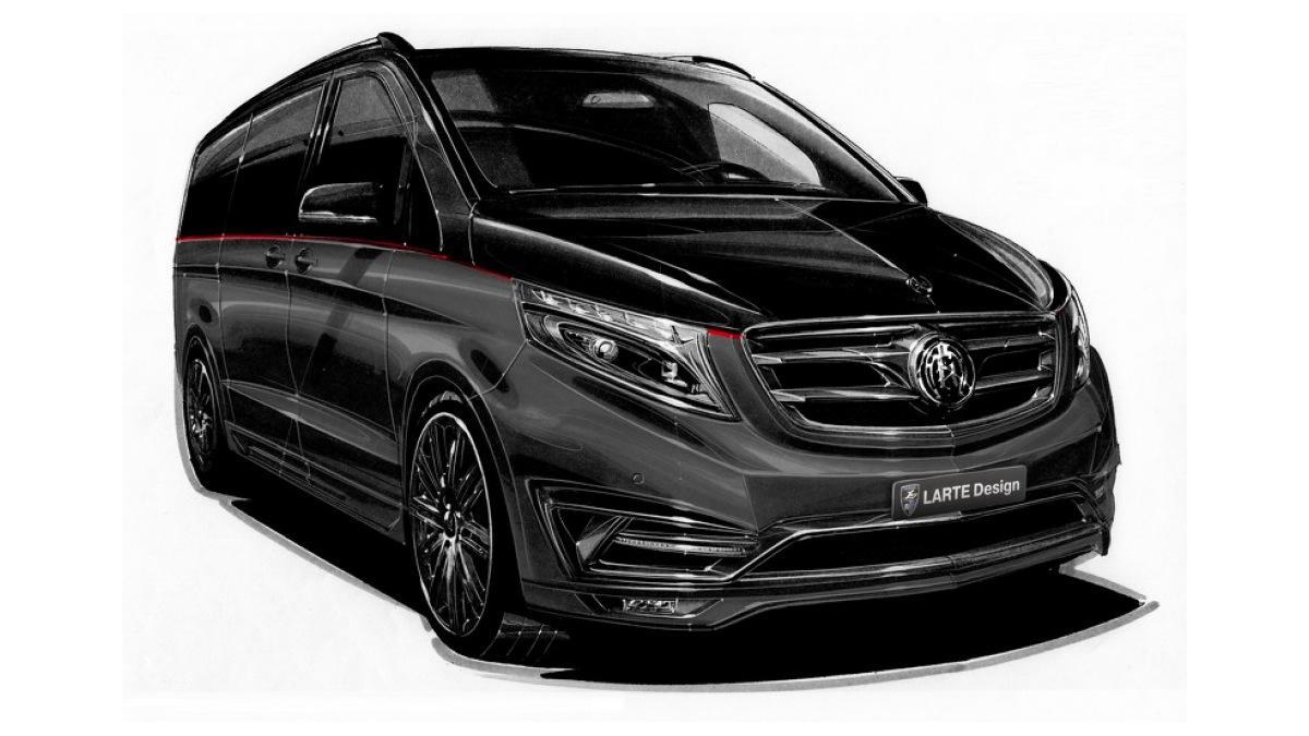 Mercedes Clase V Black Crystal frontal
