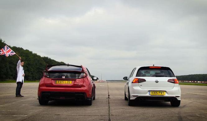 Drag Race: Volkswagen Golf R vs Honda Civic Type R